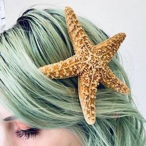 Accessories - Real Starfish Hair Clip Mermaid Costume Accessory